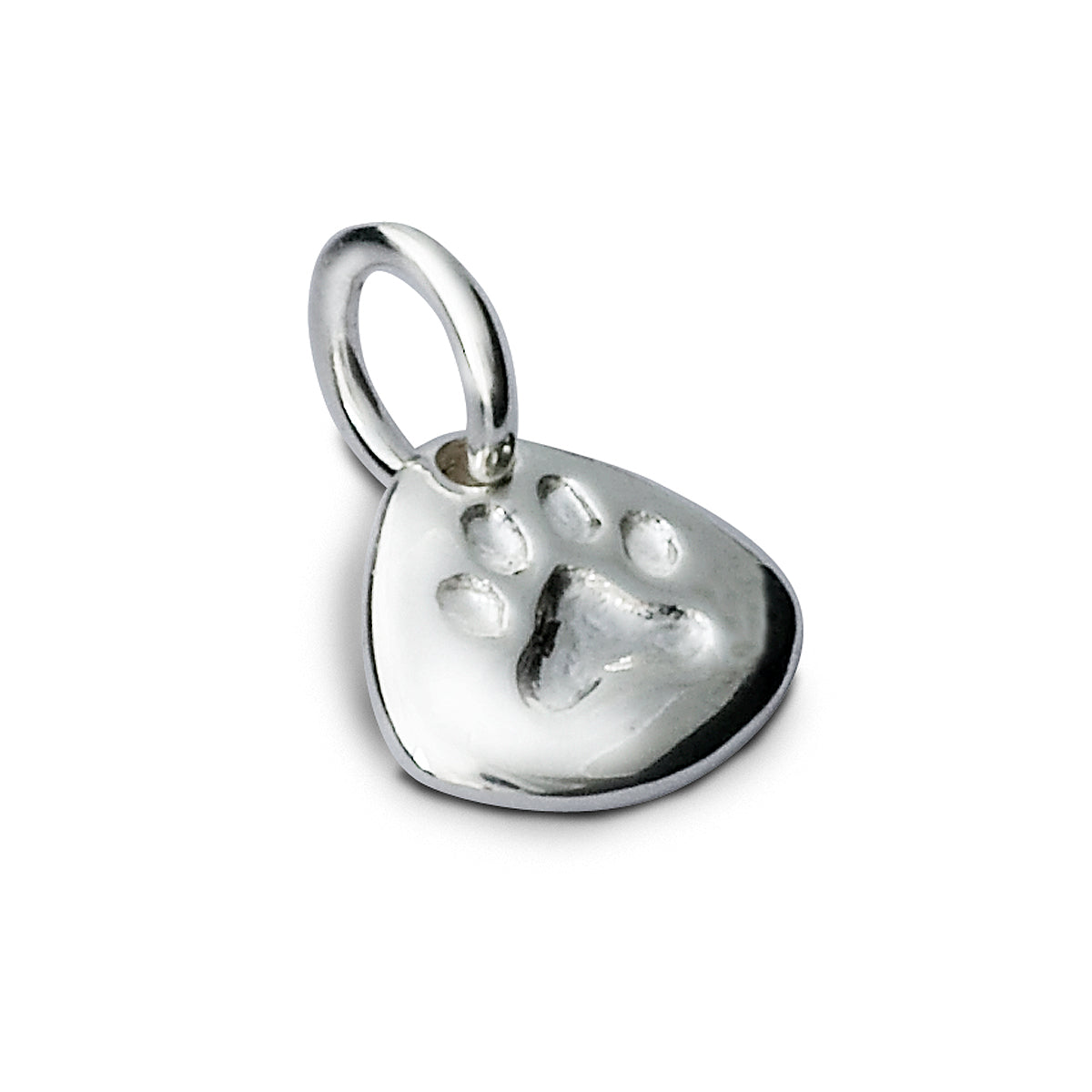 Pet Paw Print Personalised Silver Charm Necklace Pendant Engraved Pets Name