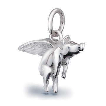 Pigs Might Fly Silver Charm