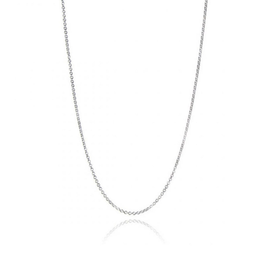 Sterling Silver Open Trace Chain Necklace - Medium Weight
