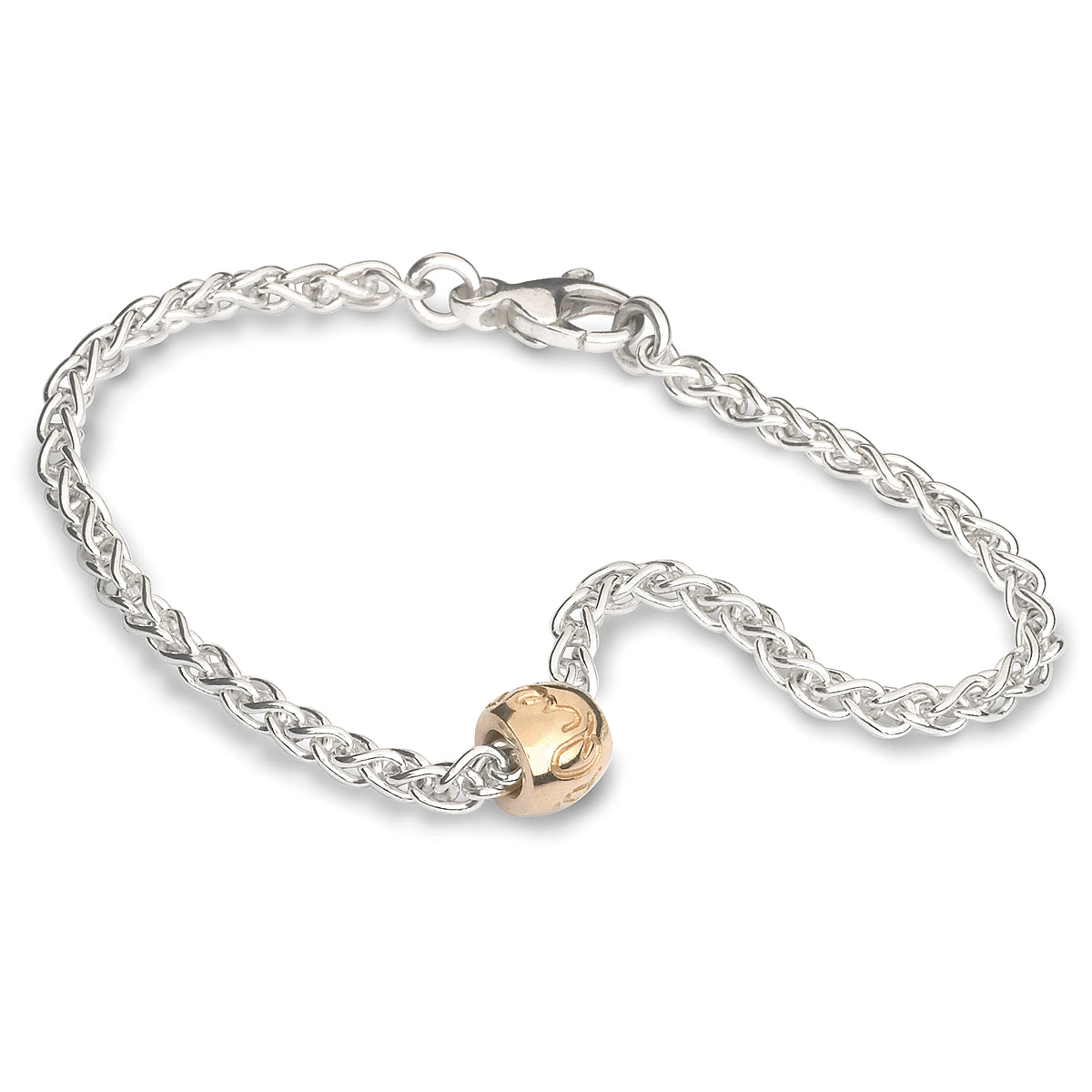 Que Sera Silver & Gold Worry Bead Bracelet Mindfulness Gift Scarlett Jewellery