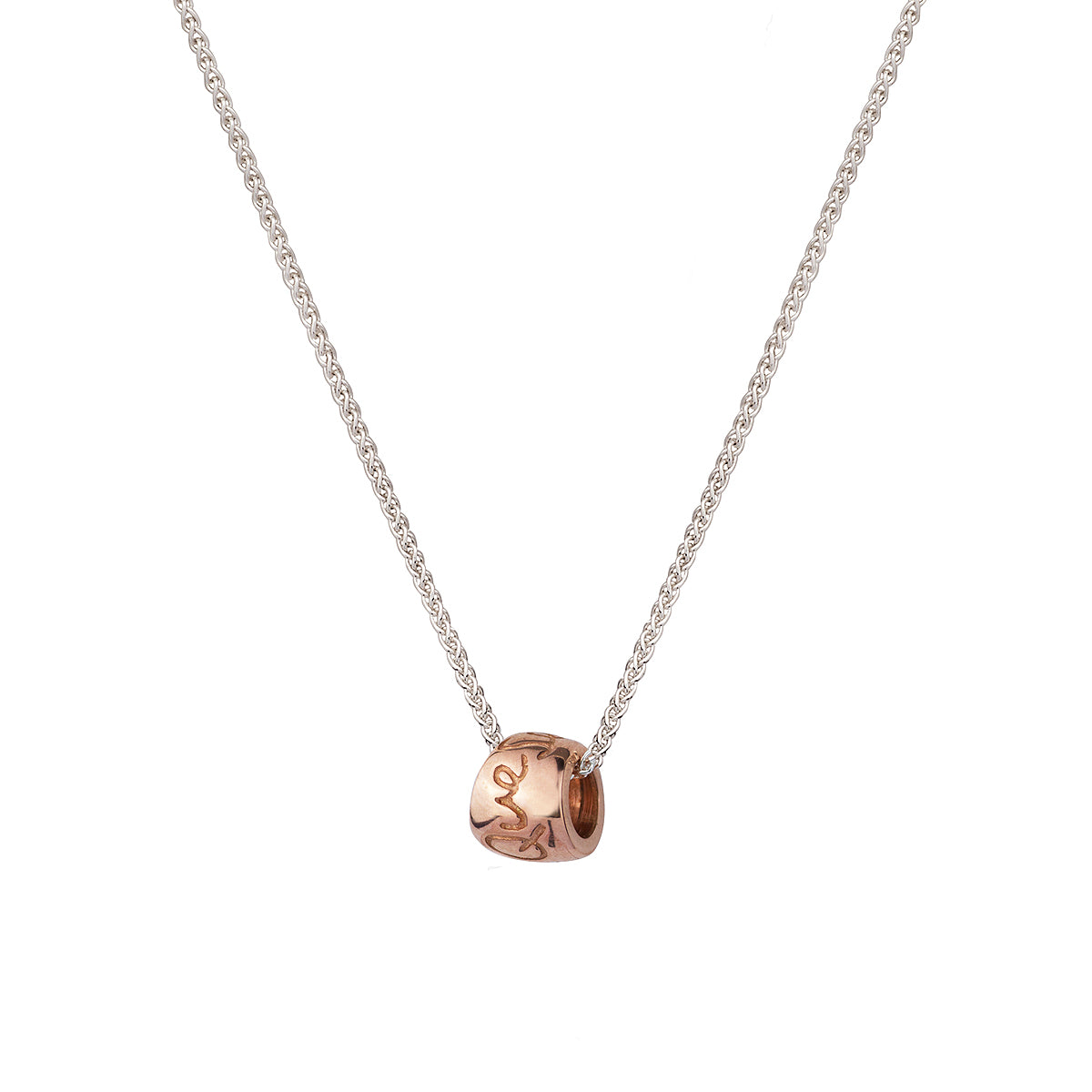 Que Sera Rose Gold Worry Bead Necklace Mindful Slow Fashion Design Scarlett Jewellery UK