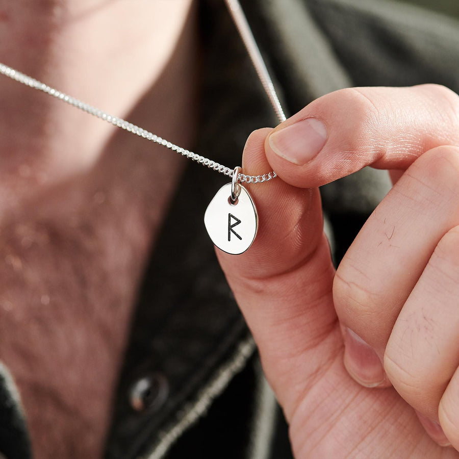 Raidho Travel Rune Mens & Womens travel necklace from Off The Map Brighton