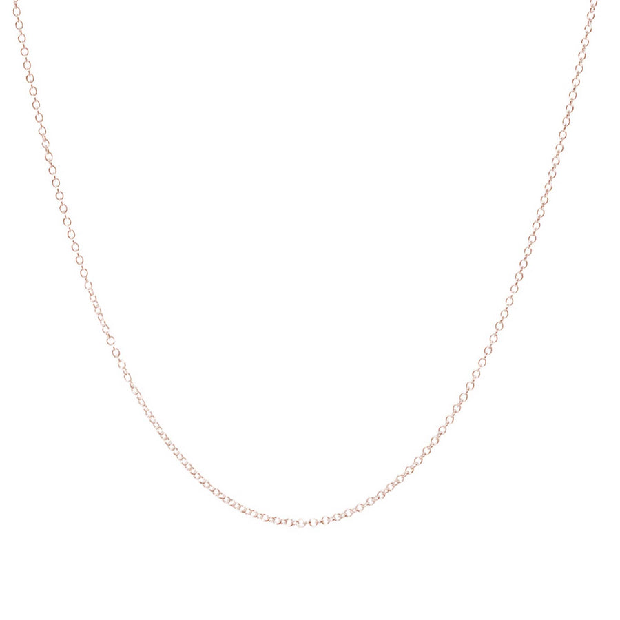 solid rose gold delicate plain necklace chain Scarlett Jewellery