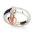 solid silver & recycled rose gold heart charm ring designer womens scarlett jewellery UK