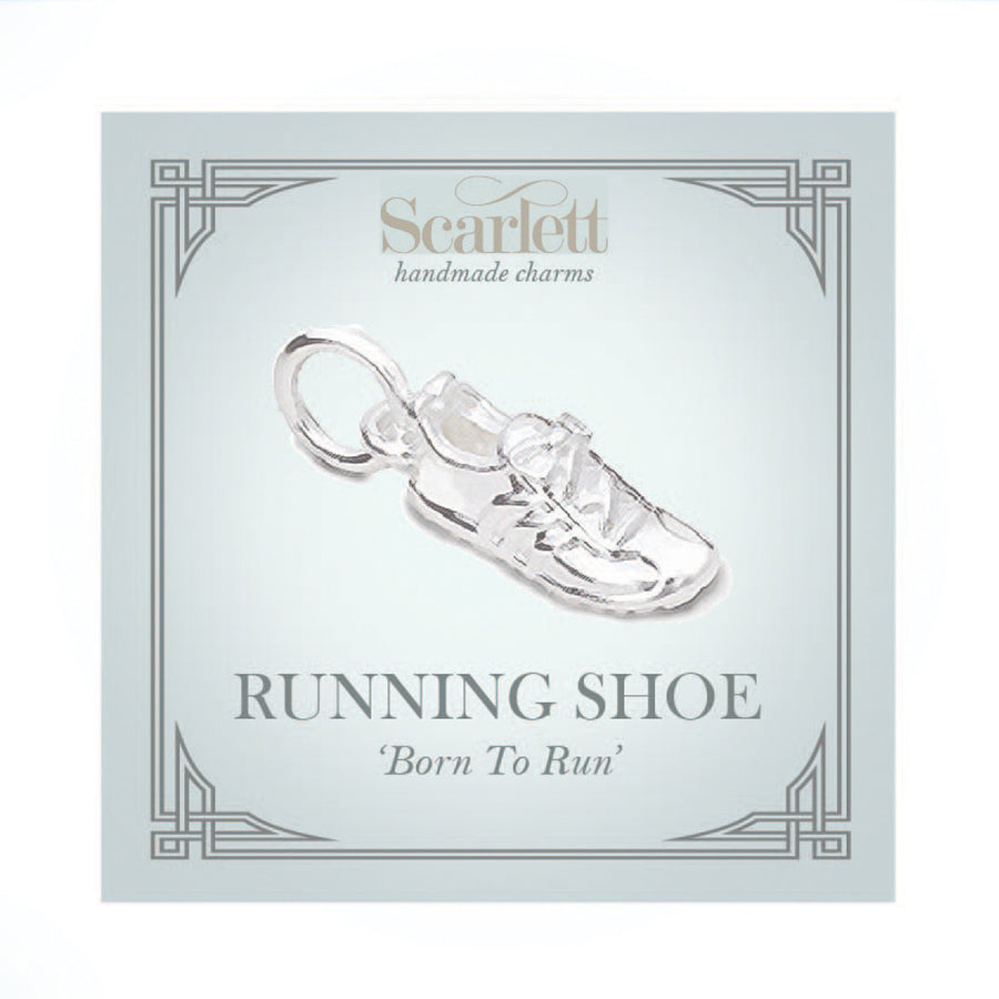 Running Shoe Silver Charm
