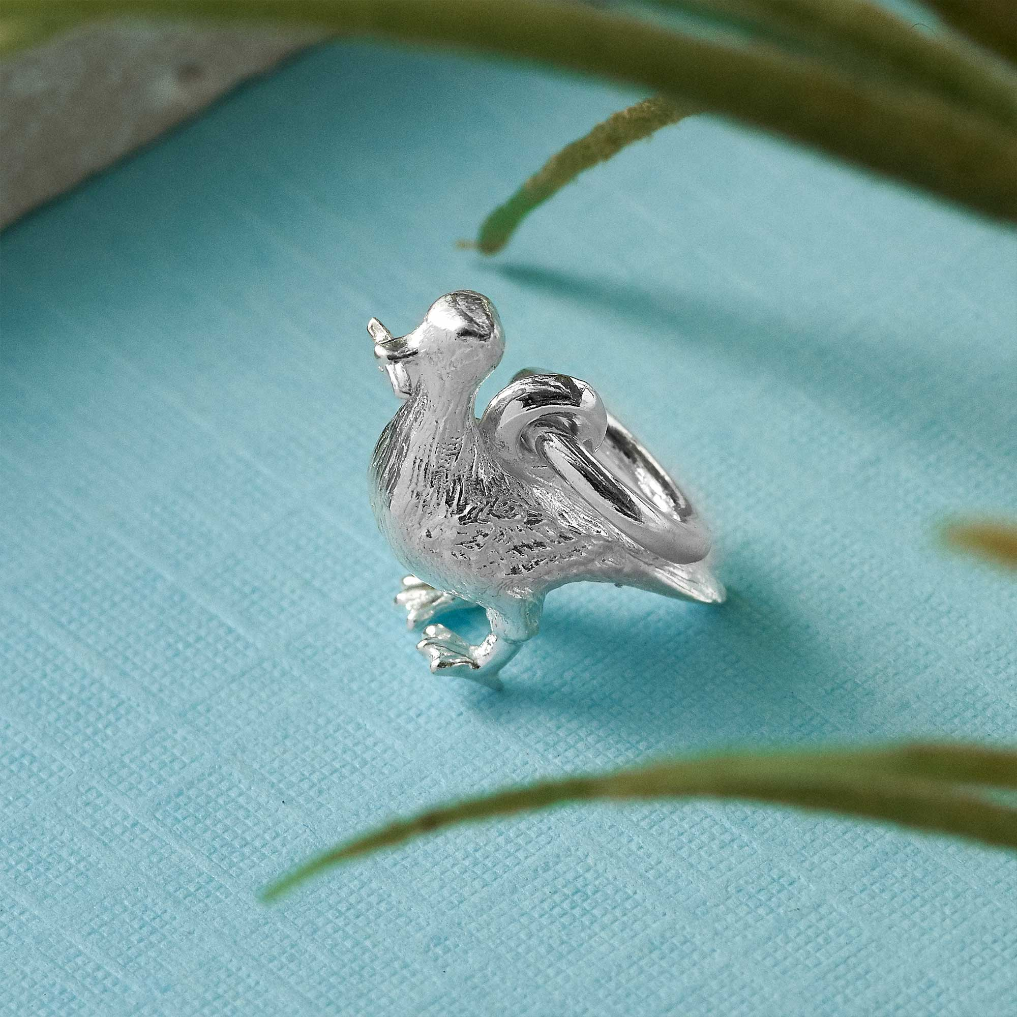 silver seagull charm from brighton jeweller scarlett jewellery stolen chip