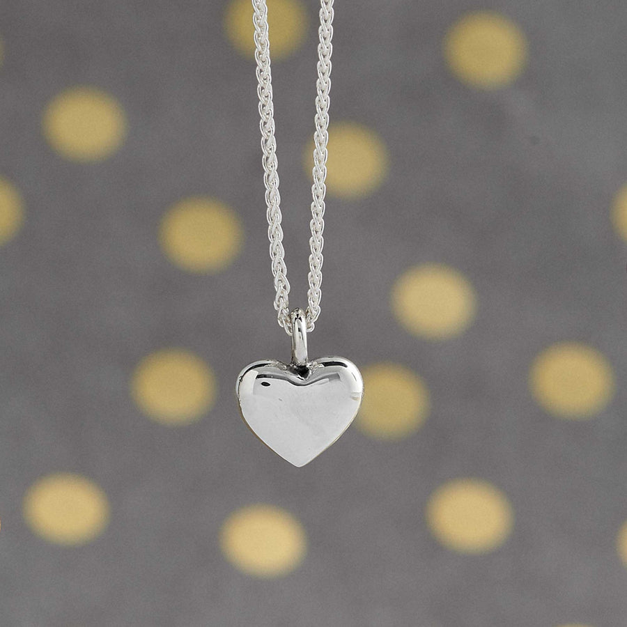 solid silver chunky heart pendant for women christmas gift for wife Scarlett Jewellery