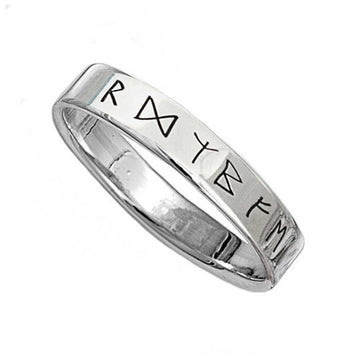 viking rune engraved ring past times style norse runic mens jewellery