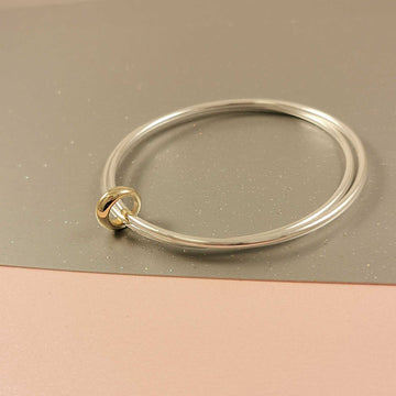 Eclipse Slim Silver & Gold Double Bangle