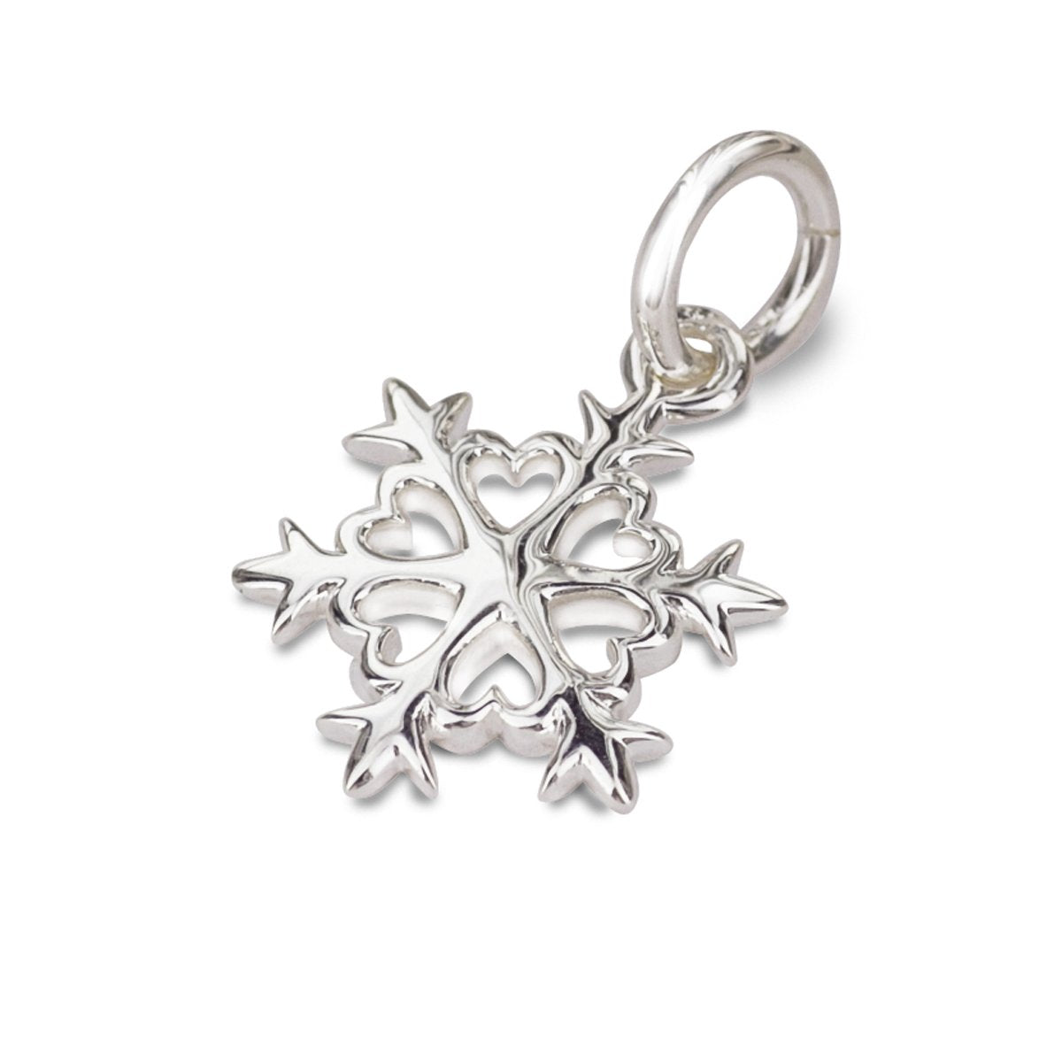 snowflake silver christmas themed bracelet charm necklace pendant Scarlett Jewellery