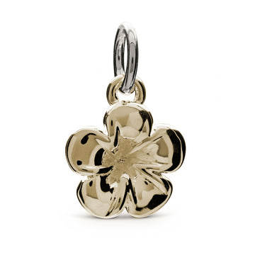 gold plumeria frangipani charm hawaiian tropical wedding gift for bride
