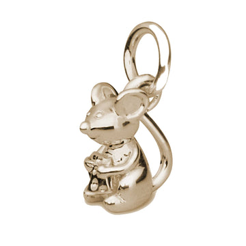 Solid gold mouse charm Scarlett Jewellery 9kt gold bracelet charms animal