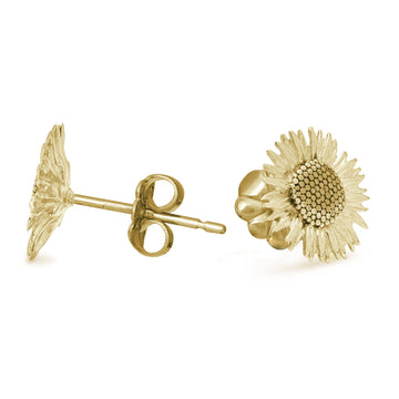 solid gold sunflower stud earrings flower studs chelsea flower show