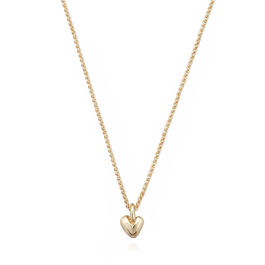 Solid yellow gold recycled heart pendant Scarlett Jewellery UK Slow fashion trends