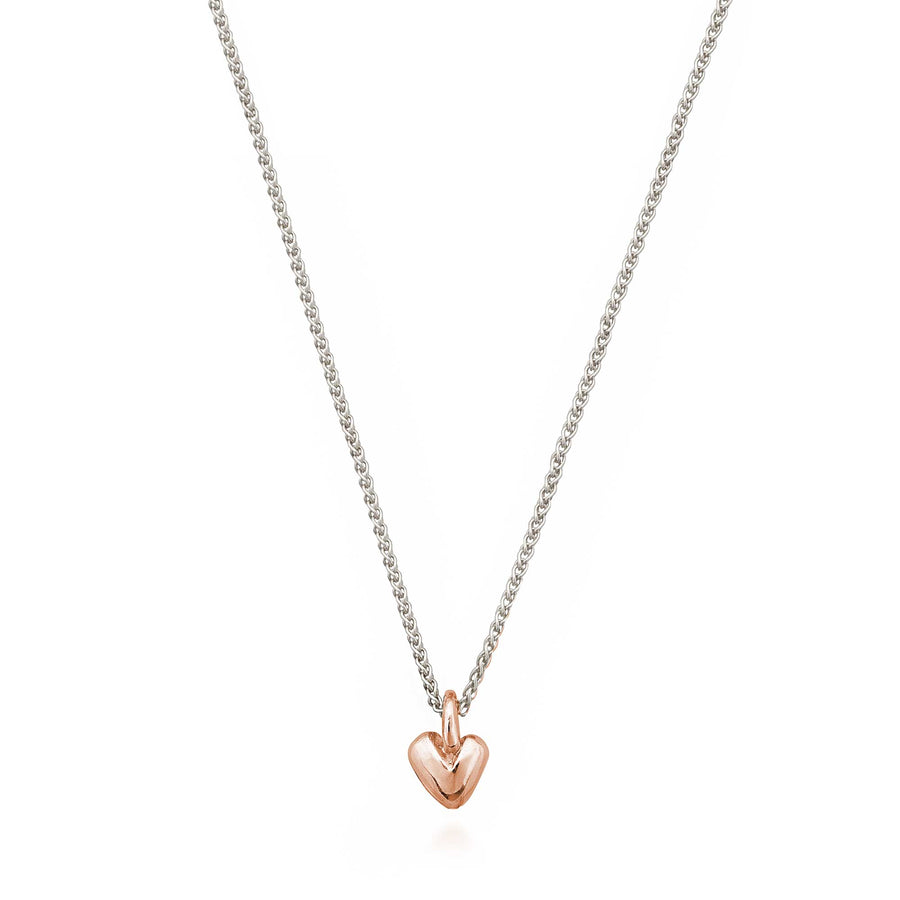 Recycled rose gold heart pendant Scarlett Jewellery UK Slow fashion jewellery trends