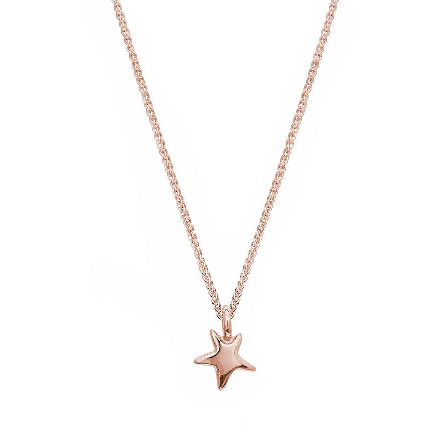solid rose gold recycled star pendant brighton designer Scarlett Jewellery