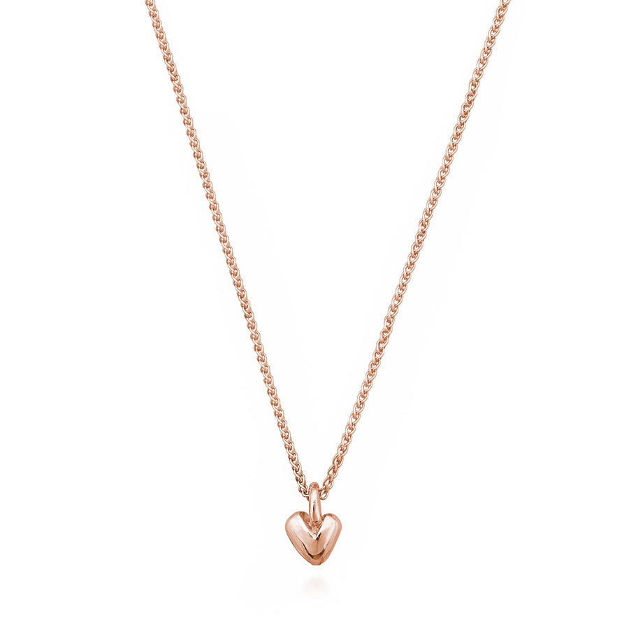 Solid rose gold recycled heart pendant Scarlett Jewellery UK Slow fashion trends