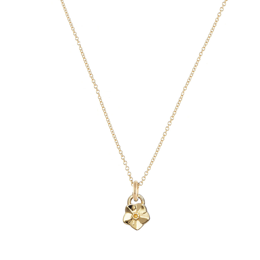 Solid gold forget me not necklace scarlett jewellery