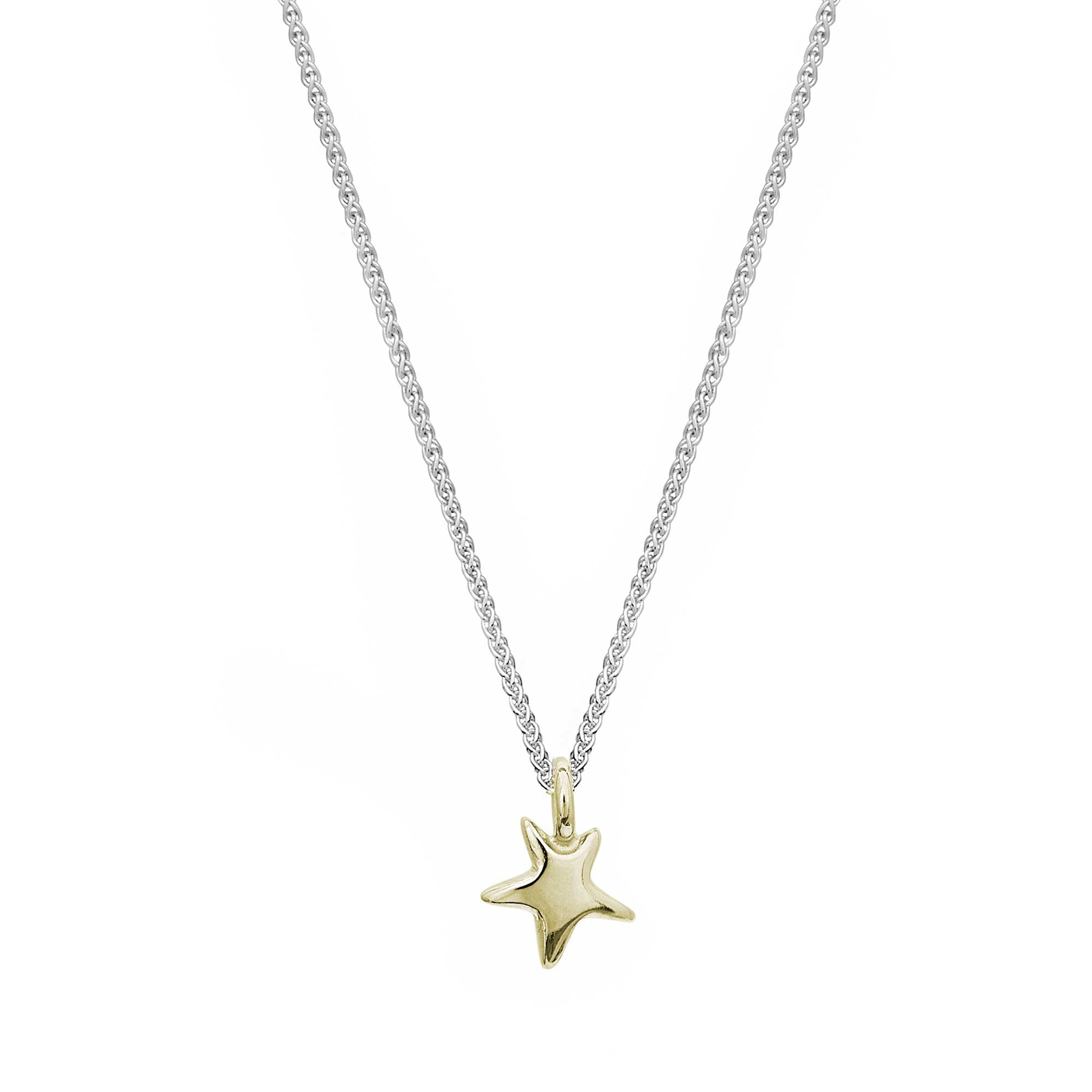 Delicate solid gold and silver star pendant for teens young womens gift designer Scarlett Jewellery
