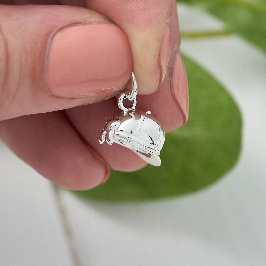 Riding Hat Horse Riding Silver Bracelet Charm FREE UK DELIVERY