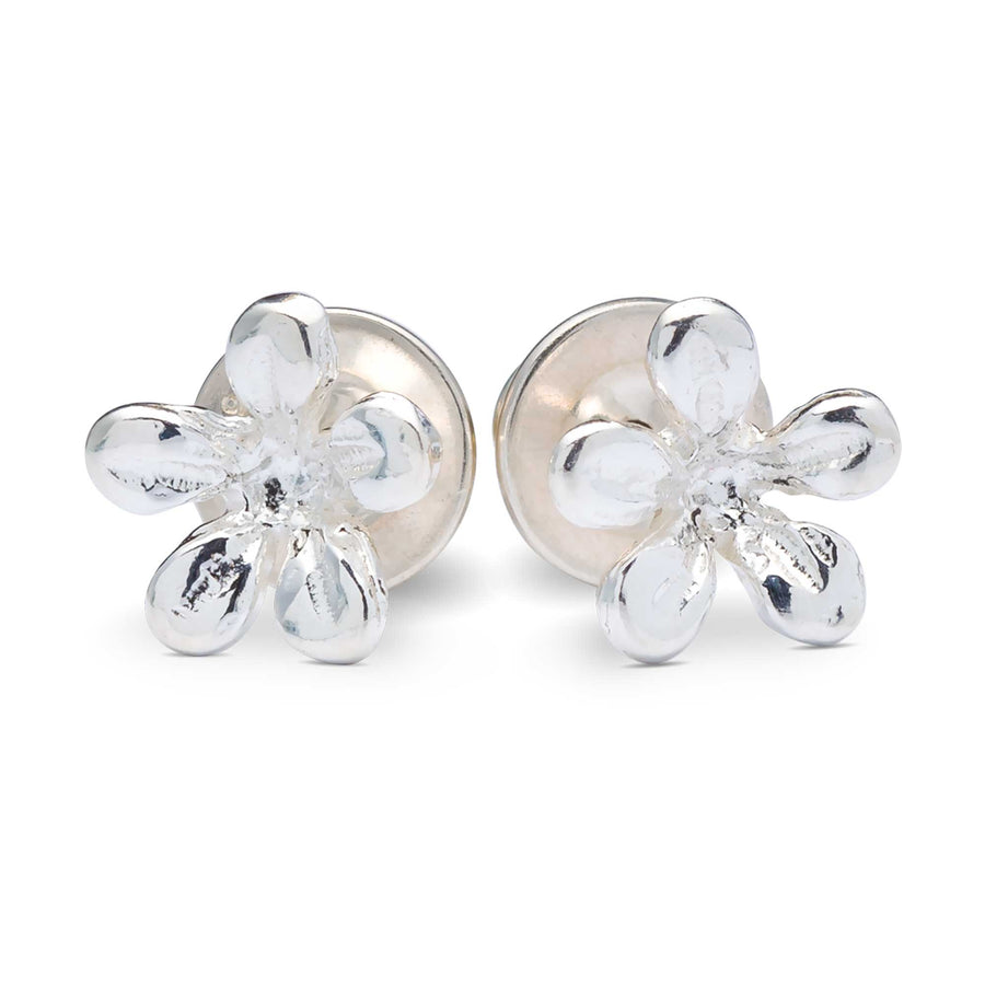 silver jasmine flower stud earrings Scarlett Jewellery