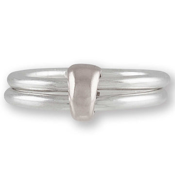 unusual joined silver stacking rings Scarlett Jewellery Brighton