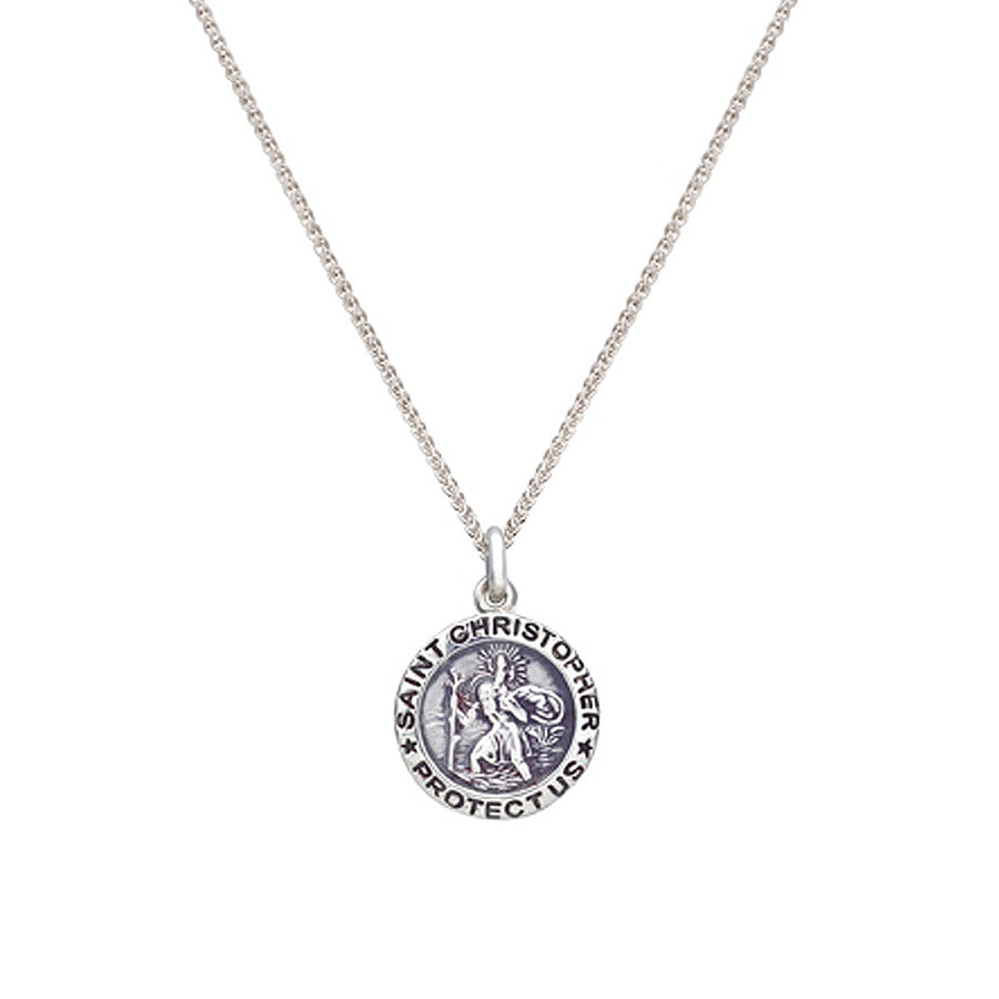 Saint Christopher Personalised Silver Charm Necklace For Men or Women
