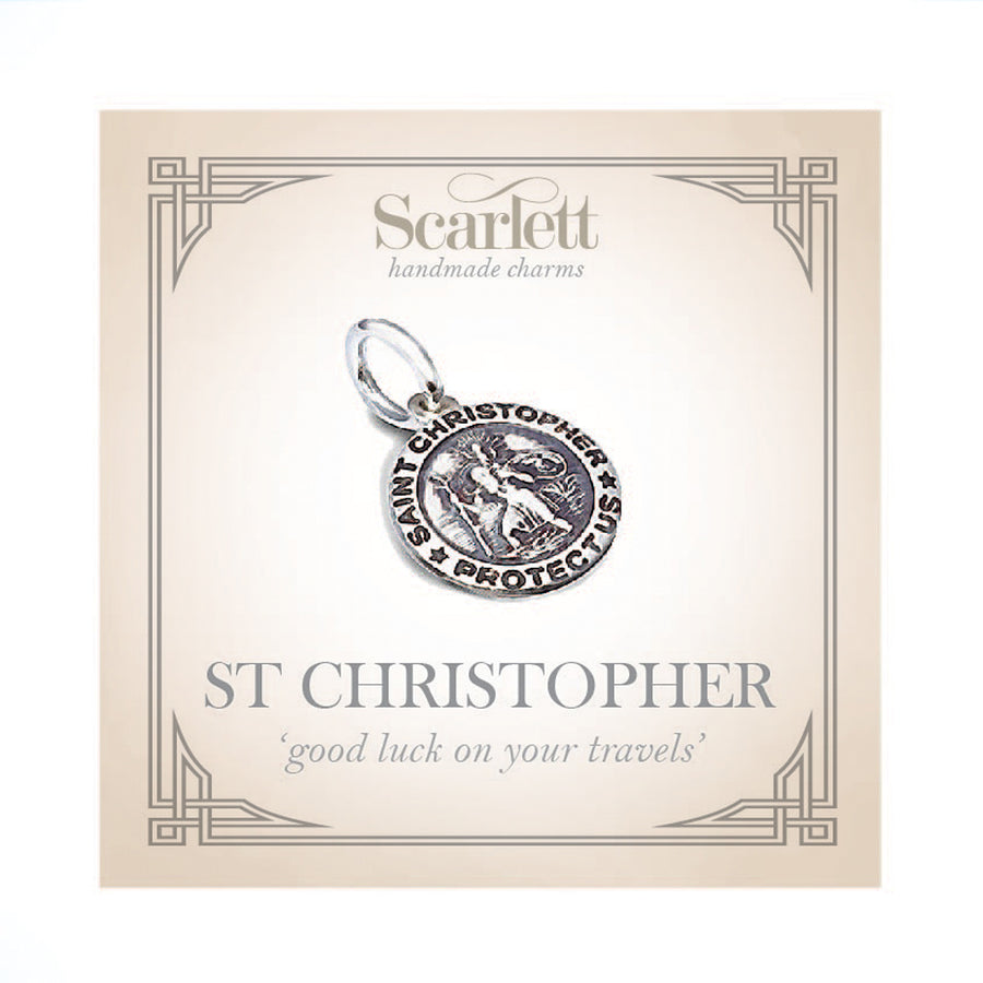 Saint Christopher Personalised Silver Charm