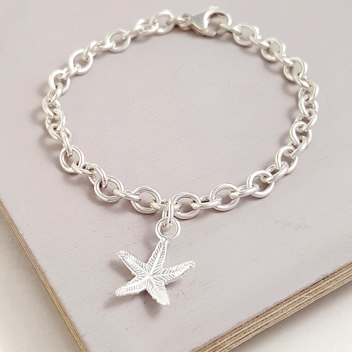 Starfish Silver Charm for Bracelet from Scarlett Jewellery