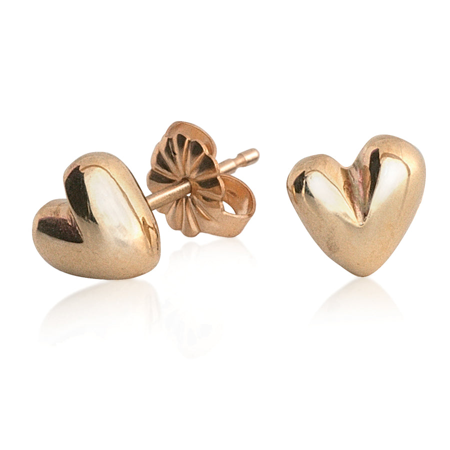 Sweet Heart Solid Gold Designer Stud Earrings Scarlett Jewellery