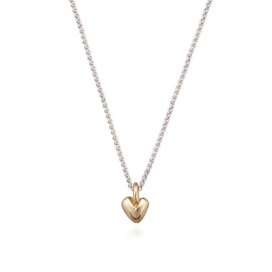 Solid silver & gold recycled heart pendant Scarlett Jewellery UK Slow fashion trends