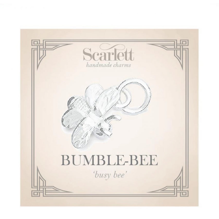 Tiny Bumble-Bee Silver Charm