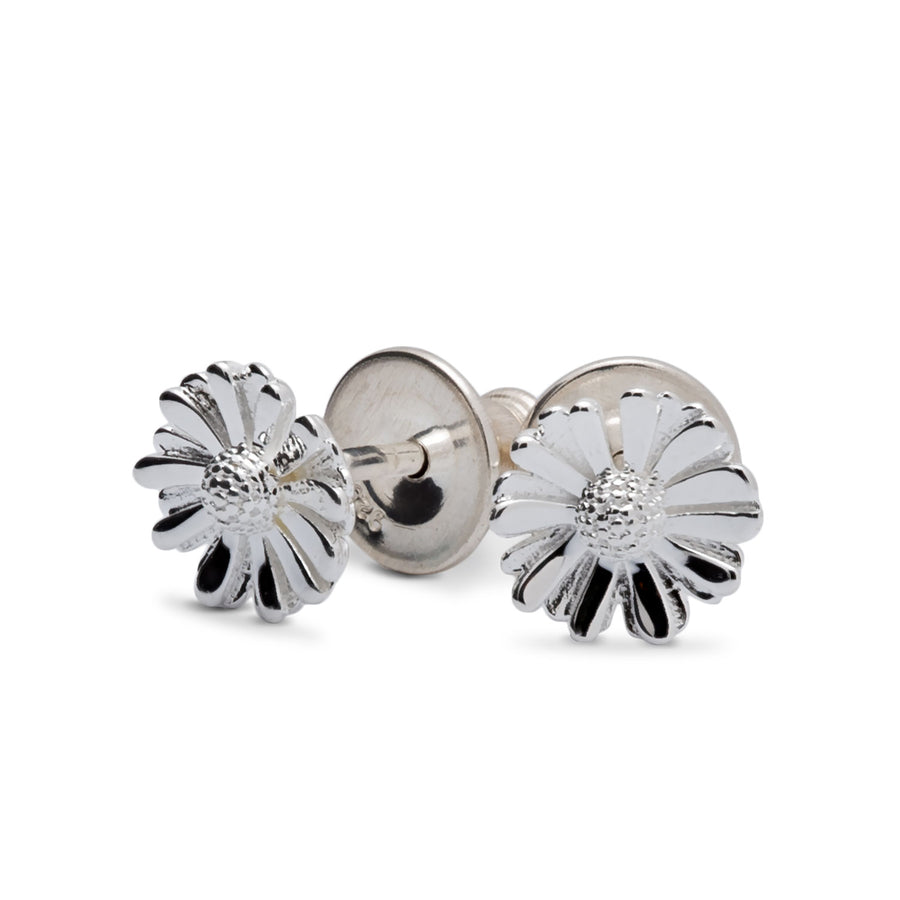 tiny daisy silver stud earrings as seen at chelsea flower show
