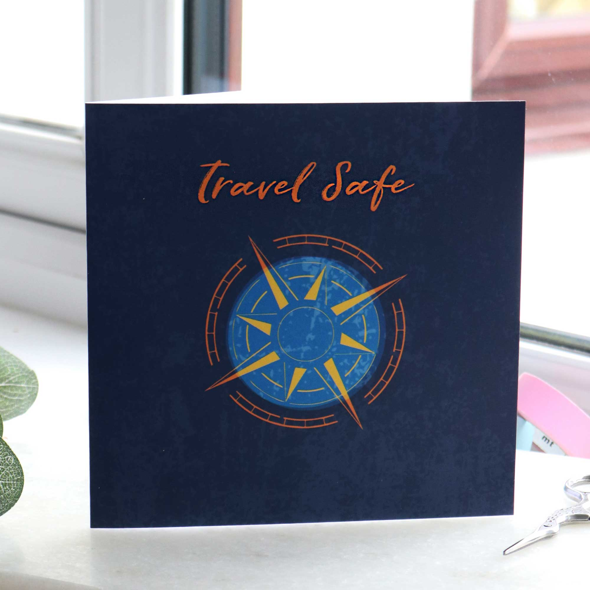 Travel safe going away gift card