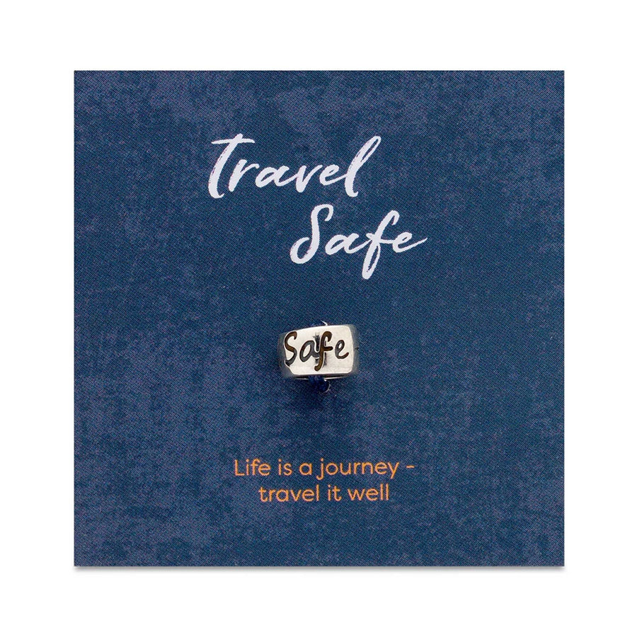 Travel Safe Silver Charm Bead