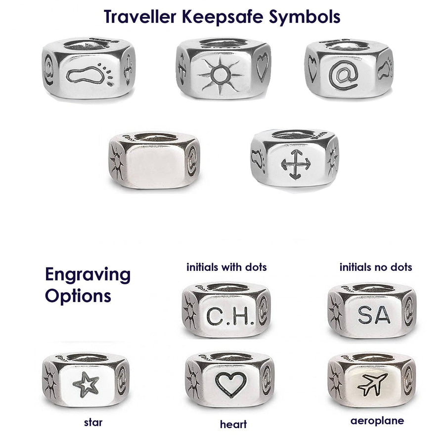 Traveller Keepsafe Symbols Off The Map Jewellery