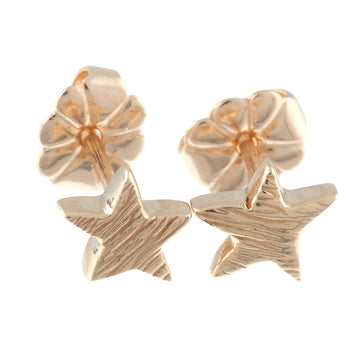 Solid gold textured star stud earrings handmade Brighton Scarlett Jewellery