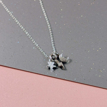 Moon Star & Lightening Bolt Necklace