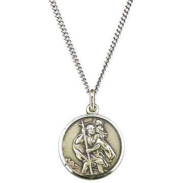 sterling silver vintage style saint christopher pendant mens 18th 21st birthday gift idea