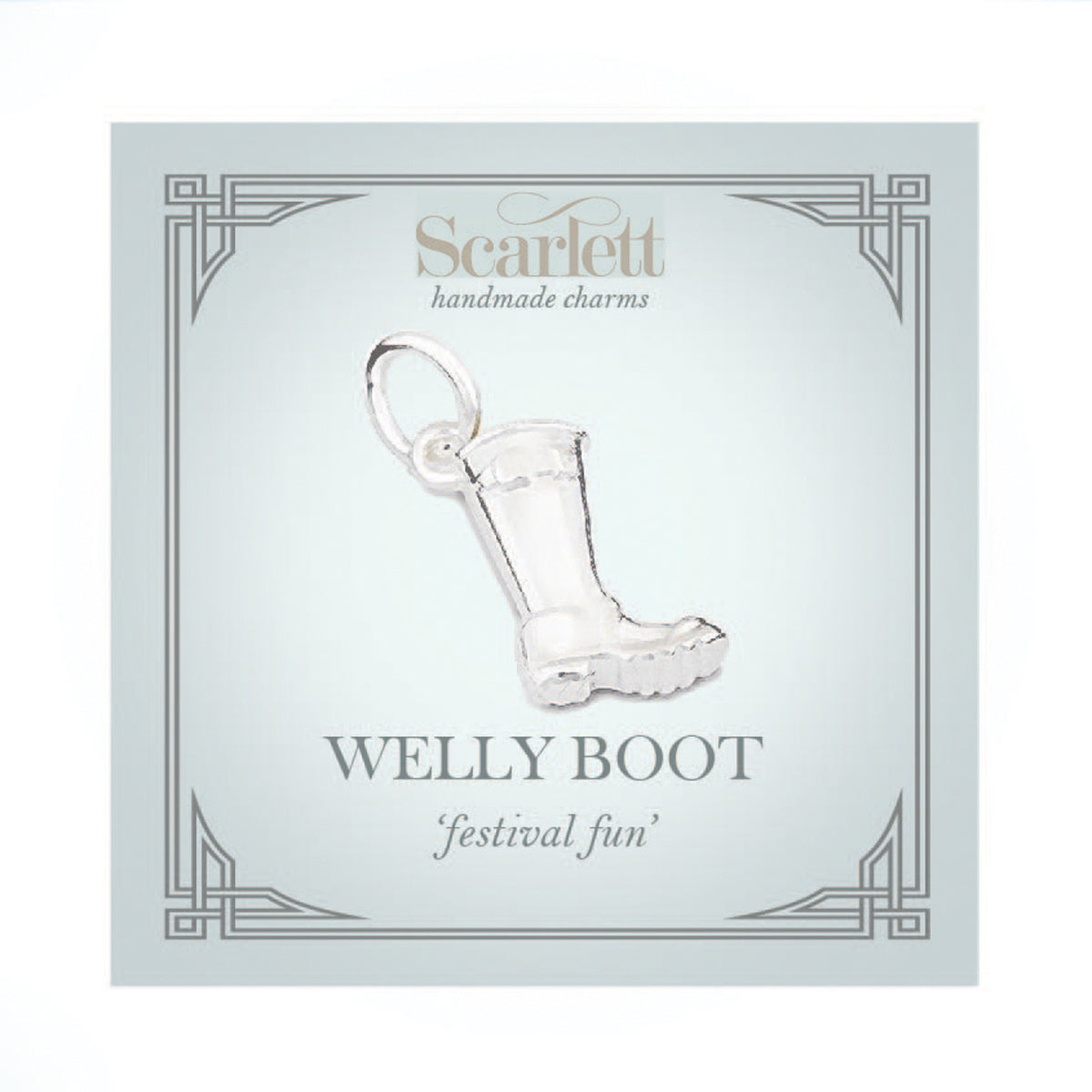 Welly Boot Personalised Silver Charm