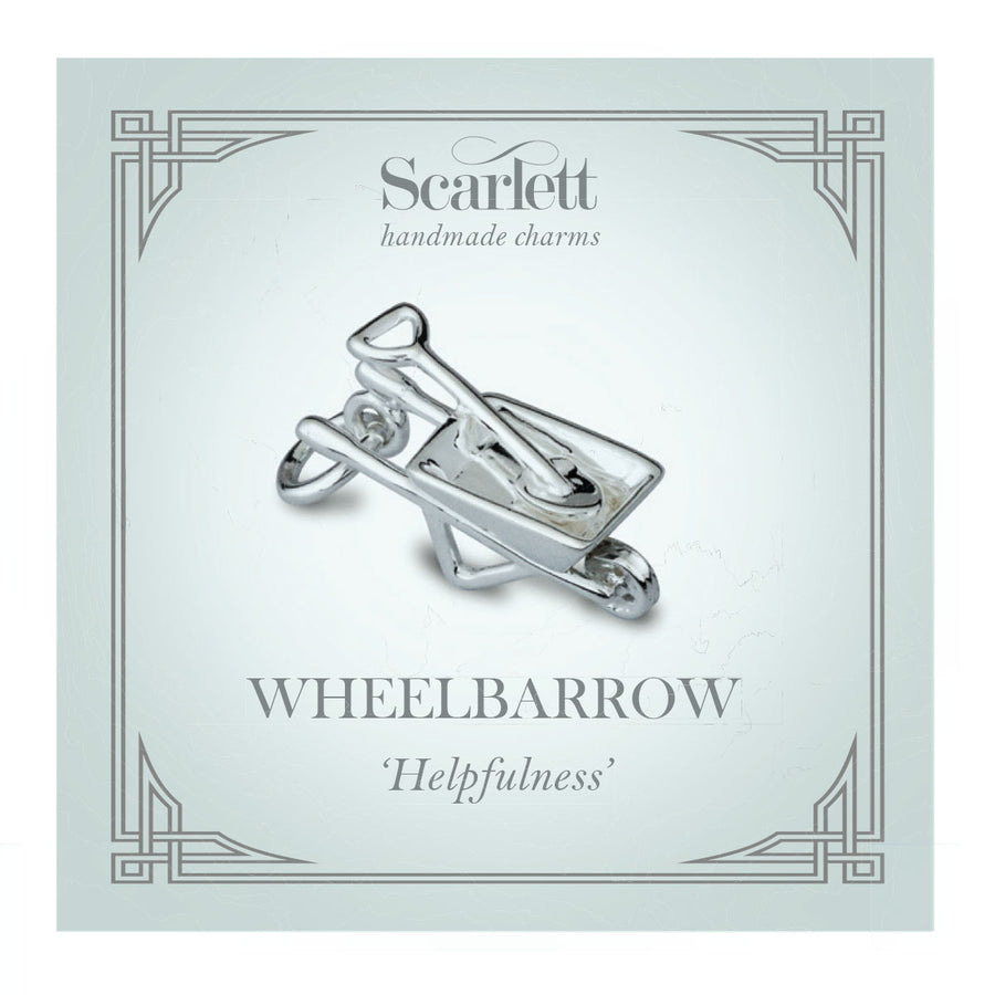 Wheelbarrow Silver Charm