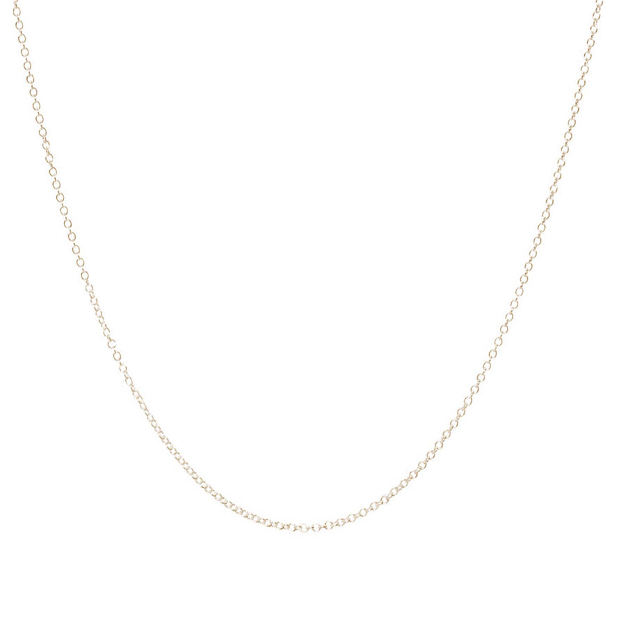 9 carat gold trace chain necklace plain scarlett jewellery