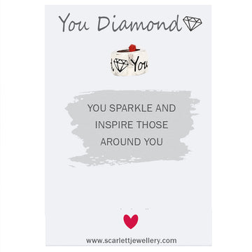 You Diamond Silver Thank You Charm Scarlett Jewellery