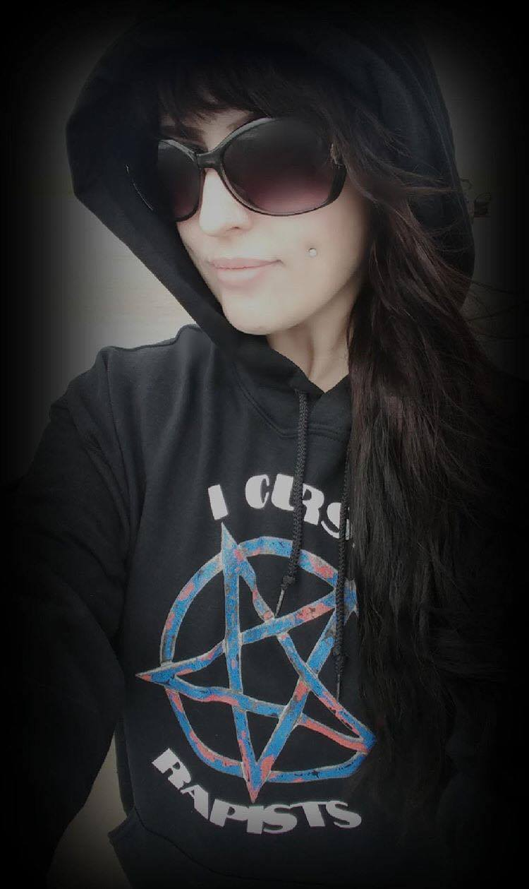 "The ""I Curse Rapists"" Hoodie by V.K. Jehannum"