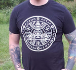 Enochian Symbol Of Protection Graphic Tee in White - BlackTreeBlueRaven