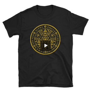Enochian Protection Symbol Graphic Tee in Gold! (Unisex) - BlackTreeBlueRaven