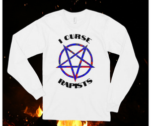 "The ""I Curse Rapists"" Long sleeve Graphic Tee from V.K. Jehannum"