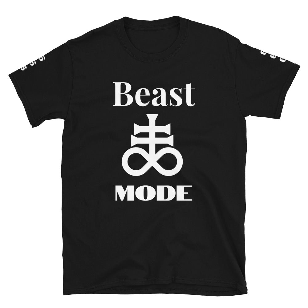 """Beast Mode"" Leviathan Cross 666 on Sleeves Unisex T-Shirt"