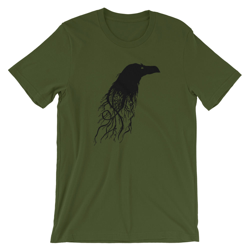 Raven Crow Root Tree Shirt for Men Or Woman - BlackTreeBlueRaven