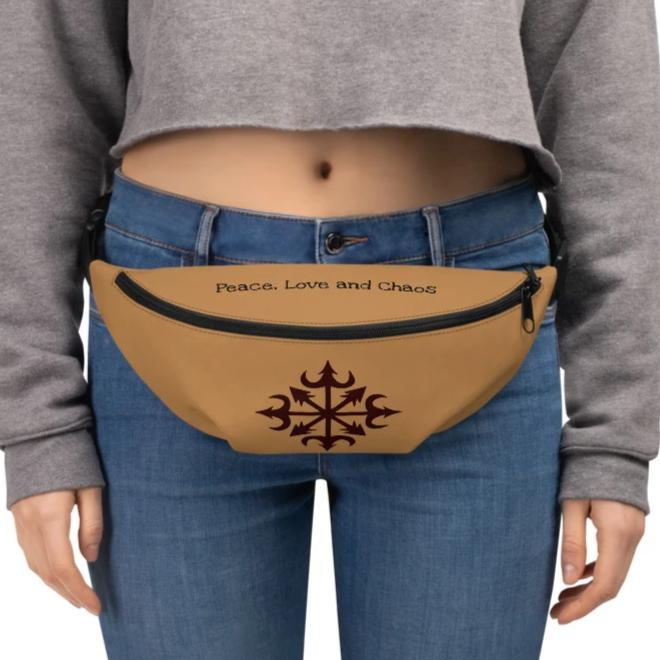 """Peace, Love and Chaos"" MAGICK Star Fanny Pack! - BlackTreeBlueRaven"